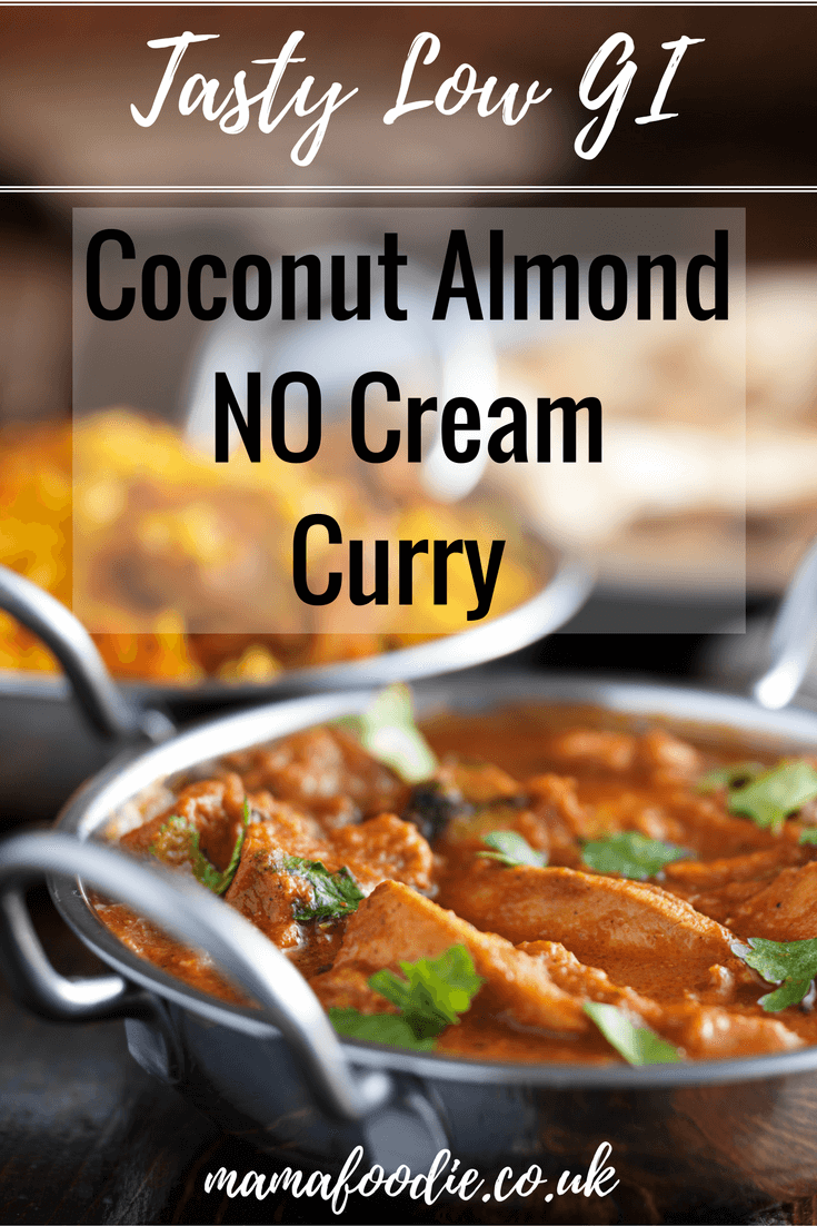 Tasty Low GI No Cream Coconut Almond Curry