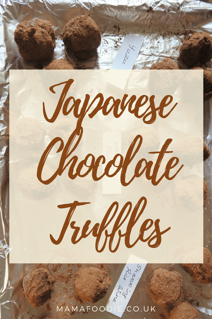 Chocolate Truffles with a Japanese Twist