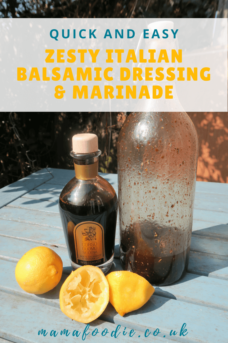 Zesty Italian Balsamic Dressing/ Marinade